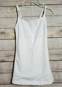 NWOT FLEXEE MAIDENFORM Shapewear Long Tank White S